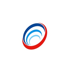 Circle round abstract technology sonar logo vector