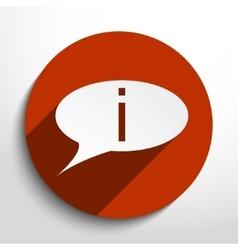 Info bubble icon vector