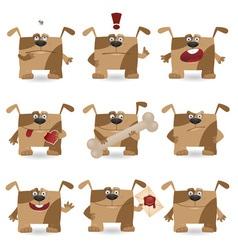 cartoon dog set vector image