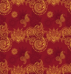 Seamless background with indian patterns vector