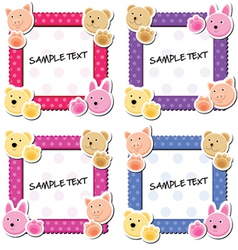 Cute animal frames vector
