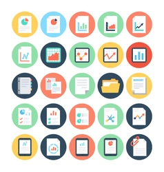 Reports and Analytics Colored Icons 2 vector image