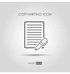 Copywriting icon in linear style vector