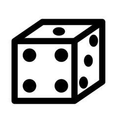 Dice game isolated icon design vector