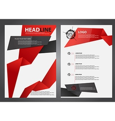 abstract red and black flyers brochure vector image
