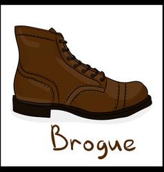 brogue vector image