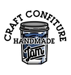 Color vintage confiture emblem vector