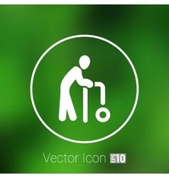Elder Black Graphic Symbol vector image