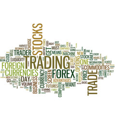 From beginner to forex trader text background vector