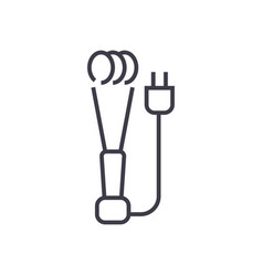 heating water element line icon sign vector image