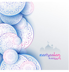 Islamic ramadan kareem festival greeting card vector