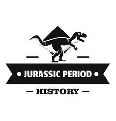 Jurassic history logo simple black style vector