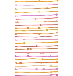 Liquid organic orange pink stripe lines pattern vector