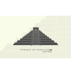 Mayan pyramid of Kukulkan in Mexico vector image