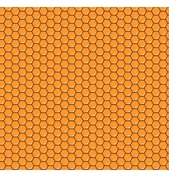 Orange honeycomb seamless pattern vector