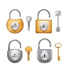Padlocks And Keys Realistic Set vector image vector image