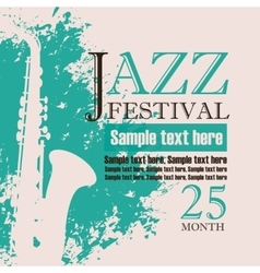 Poster for a concert of jazz music festival vector