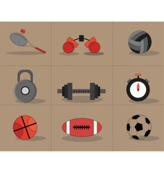 Sports accessories set vector