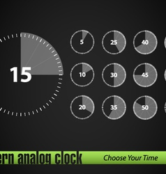 timer collection vector image vector image