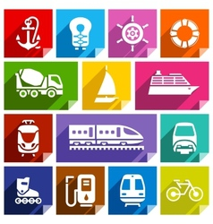 Transport flat icon bright color-01 vector image