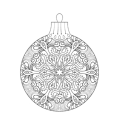 vintage Christmas ball for tree New Year 2017 vector image vector image
