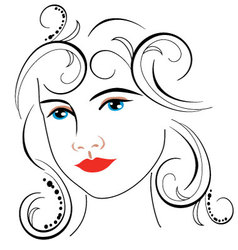 woman face drawing 7 vector image