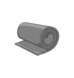 Yoga mat icon black monochrome style vector