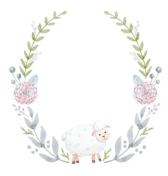Hand drawn watercolor wreath vector