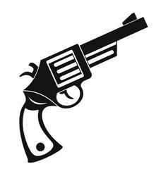 vintage revolver icon simple style vector image