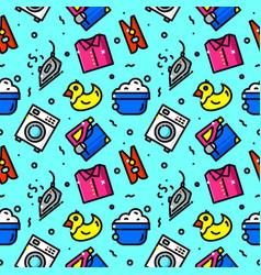 Laundry serves seamless pattern vector