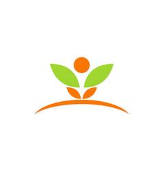 beauty plant spa leaf logo vector image