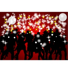 Dancing crowd vector