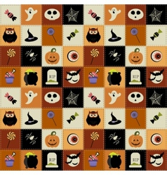 Background with Halloween elements vector image