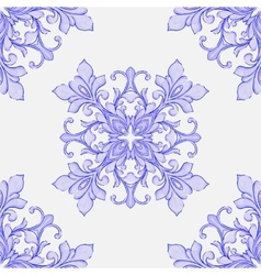 Barocco watercolor seamless lace ornament vector
