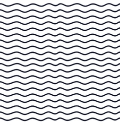 Hand drawn seamless indigo irregular wave line vector