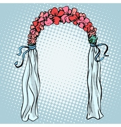 Wedding gate for the betrothal vector