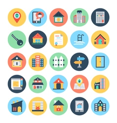 Real estate icons 2 vector