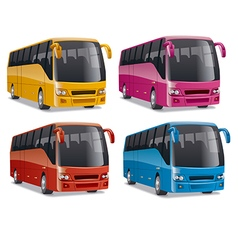modern comfortable city buses vector image