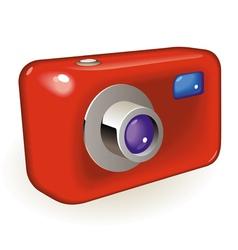 Compact photo camera vector