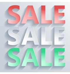 Abstract paper word sale vector