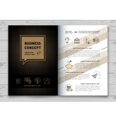 Business brochure design template Elegant brand vector image vector image