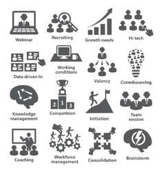 Business management icons pack 30 vector