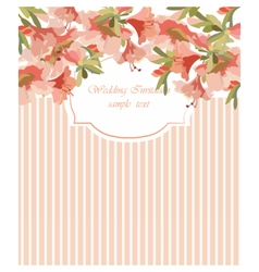 Card with Geranium flower frame vector image vector image