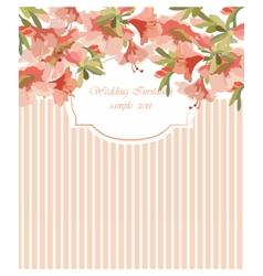 Card with Geranium flower frame vector image