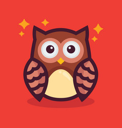 cute owl character vector image