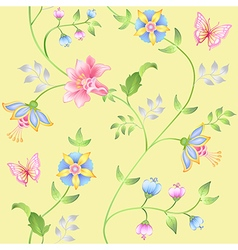 Decor floral elements seamless set vector image