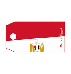 egypt flag on price tag with word made in egypt vector image
