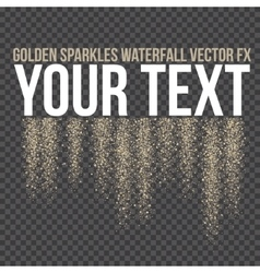 golden sparkling falling tails Stardust vector image