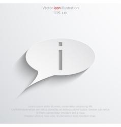info bubble icon vector image