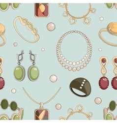 Jewelry set pattern vector image vector image